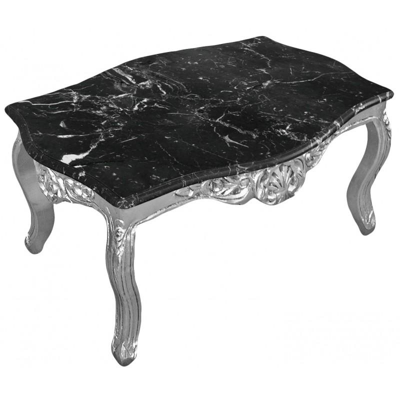 Table basse salon bois noir - Table basse argentee ...