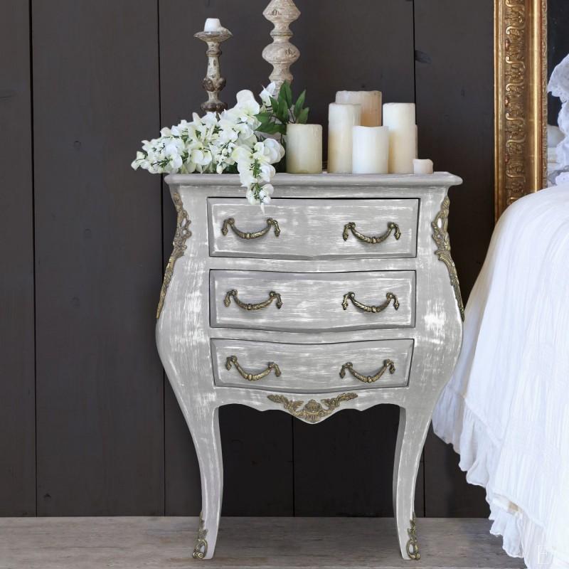 Gray wood dresser