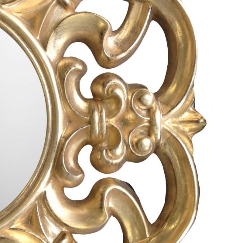 Miroir baroque dor de style v nitien for Miroir style baroque