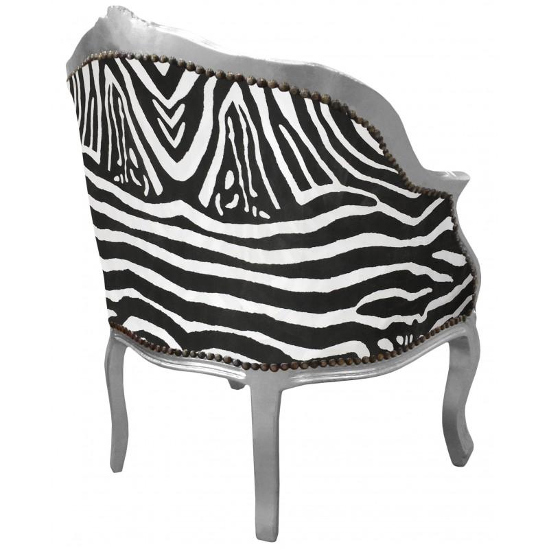 Fauteuil bergere zebre for Meuble zebre