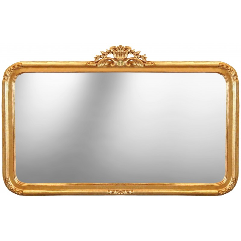 Grand miroir rectangulaire miroir bois flott grand for Miroir style baroque