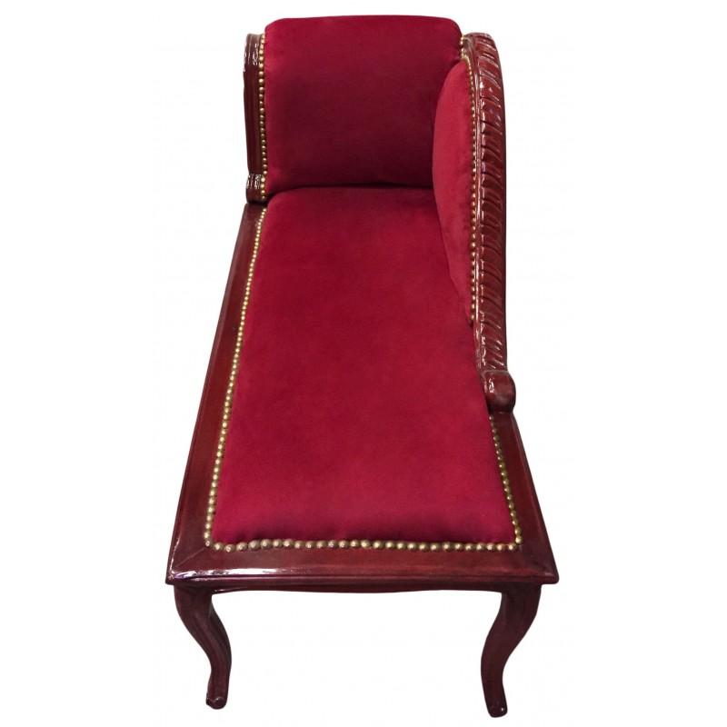 m ridienne de style louis xv tissu velours bordeaux et. Black Bedroom Furniture Sets. Home Design Ideas