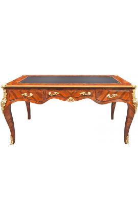Large Louis XV desk in marquetry