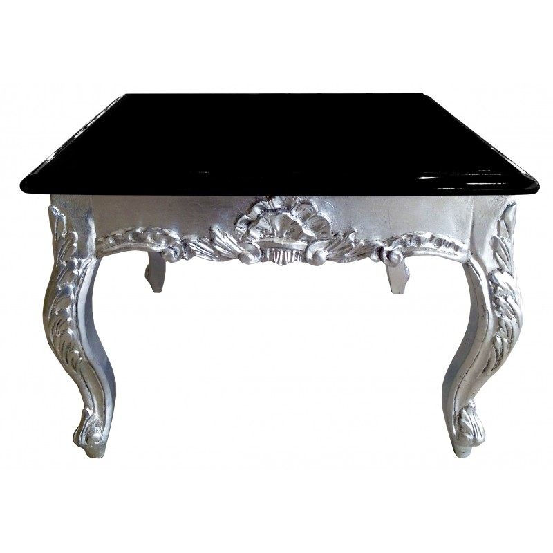 Table basse plateau argent for Table basse argent