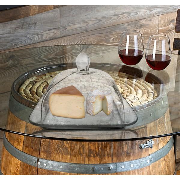 cloche fromage ou g teaux en verre support en bois pictures to pin on pinterest. Black Bedroom Furniture Sets. Home Design Ideas