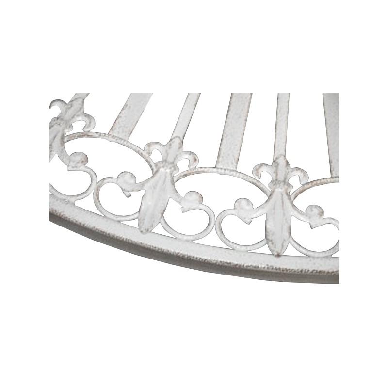 Table pliante en fer forg collection fleurs de lys for Table exterieur pliante fer