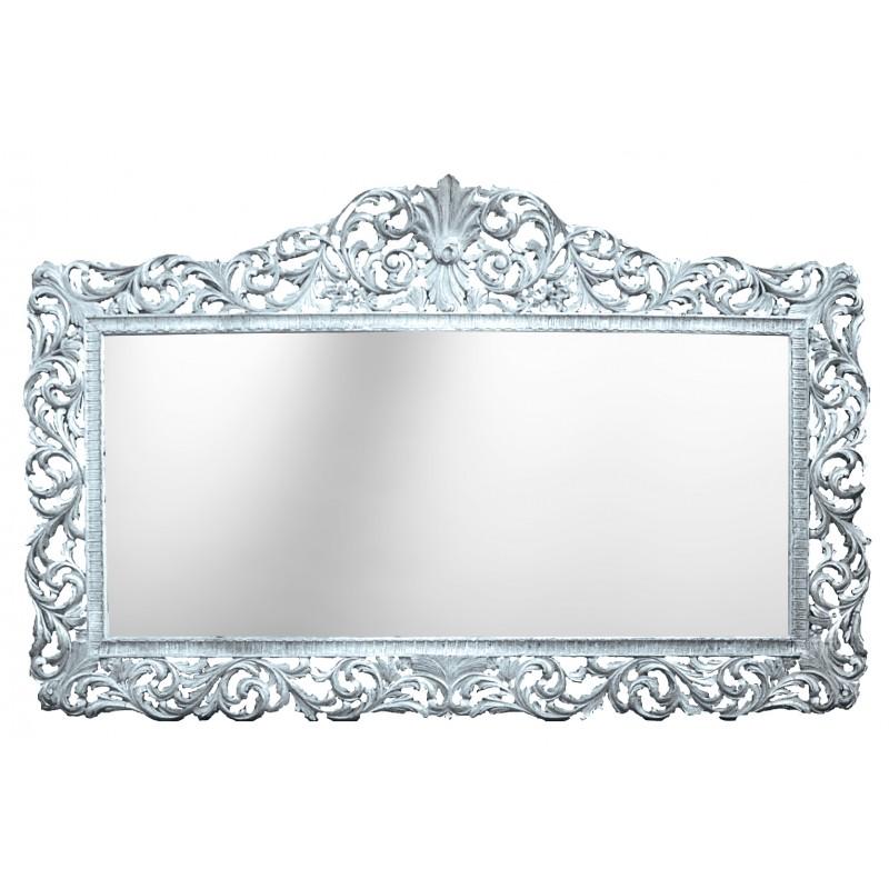 Enorme console avec miroir de style baroque en bois for Miroir long bois
