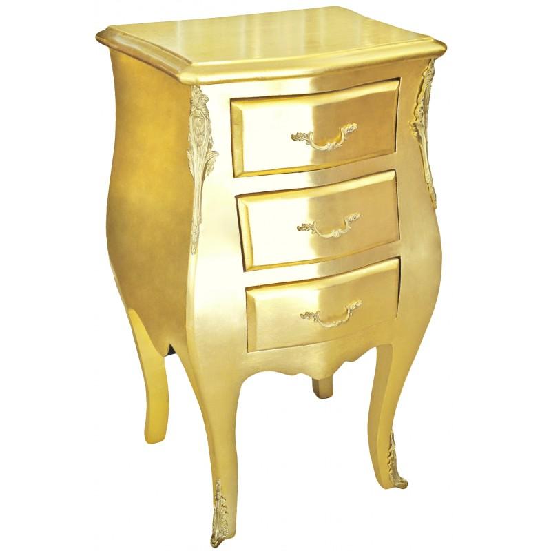 table de nuit chevet commode baroque 233 troite bois dor 233 et 3 tiroirs