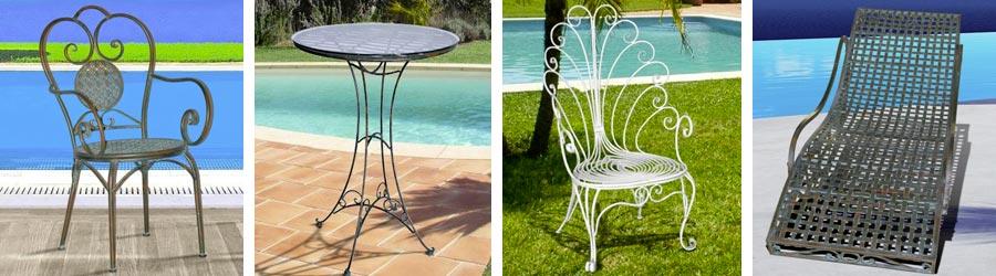 Nos mobiliers de jardin en fer forg voici nos chaises en for Mobilier de jardin en fer forge