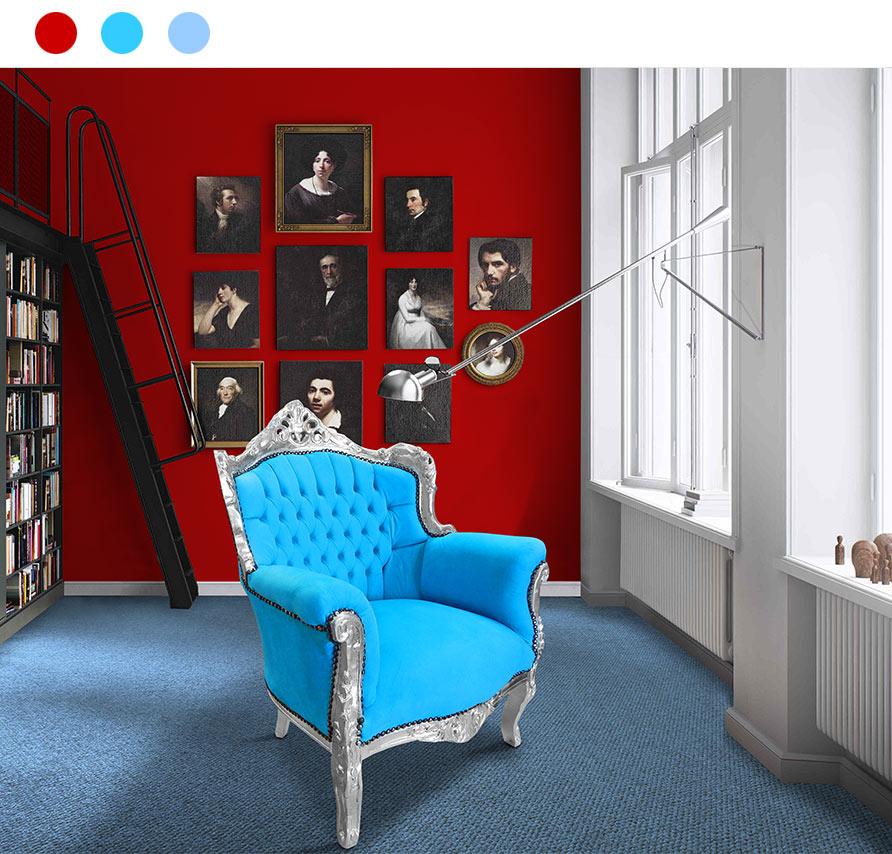 Devenez red dingue du rouge for Bleu turquoise clair