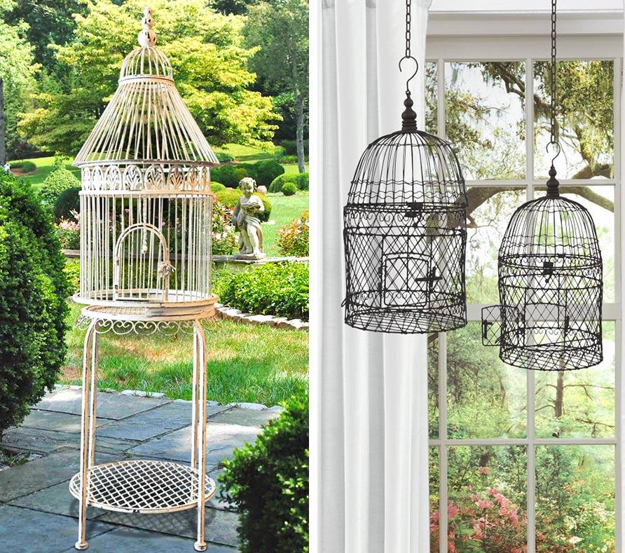 Invitez l t dans votre jardin for Cages a oiseaux decoratives