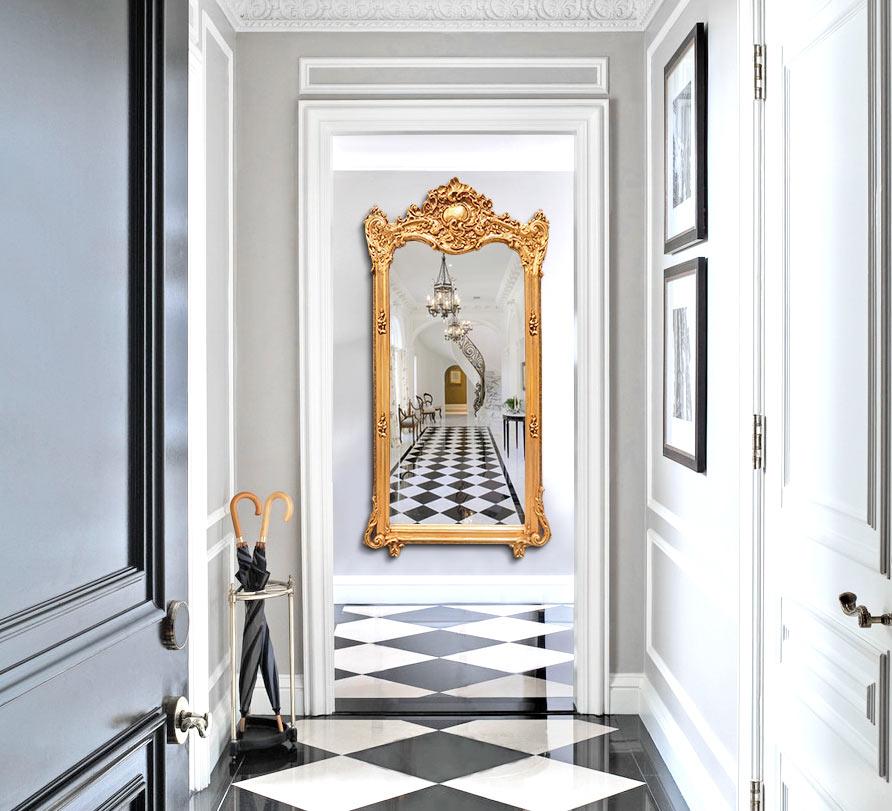 miroir Royal Art Palace pour agrandir visuellement l'espace