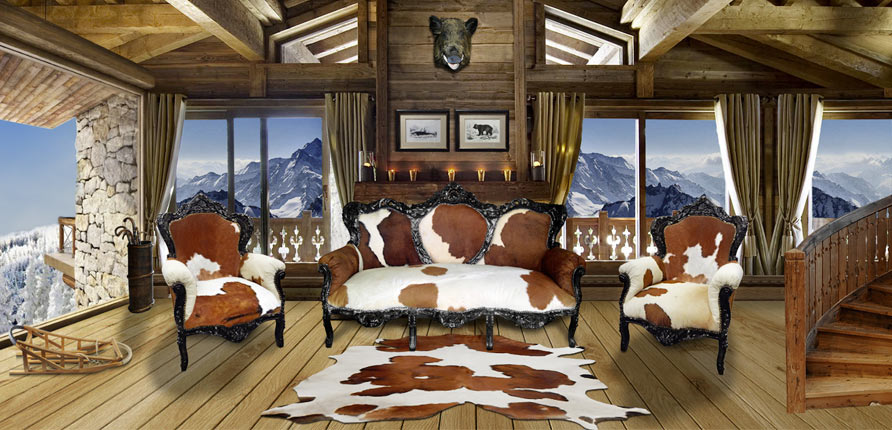 l hiver dans une ambiance chalet de montagne. Black Bedroom Furniture Sets. Home Design Ideas