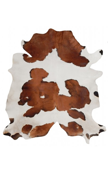 Cowhide carpet brown and white