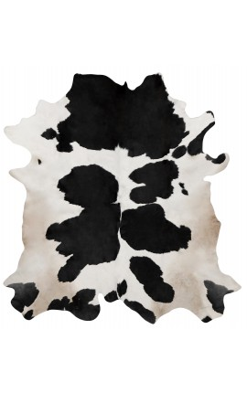 Cowhide carpet black and white