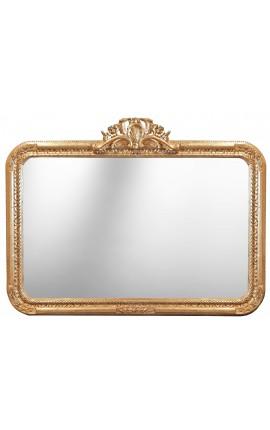 Large rectangular mirror baroque Louis XV Rocaille