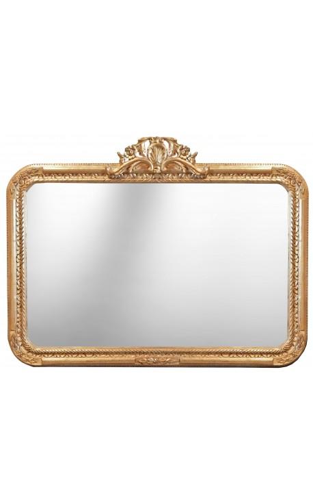 Большое прямоугольное зеркало барокко стиль Людовика XV рок