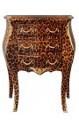 Nightstand (Bedside) leopard Baroque with gilded bronze with 3 drawers