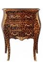 Тумбочка (прикроватные) леопарда в стиле барокко комод с позолоченной бронзы с 3 ящиками