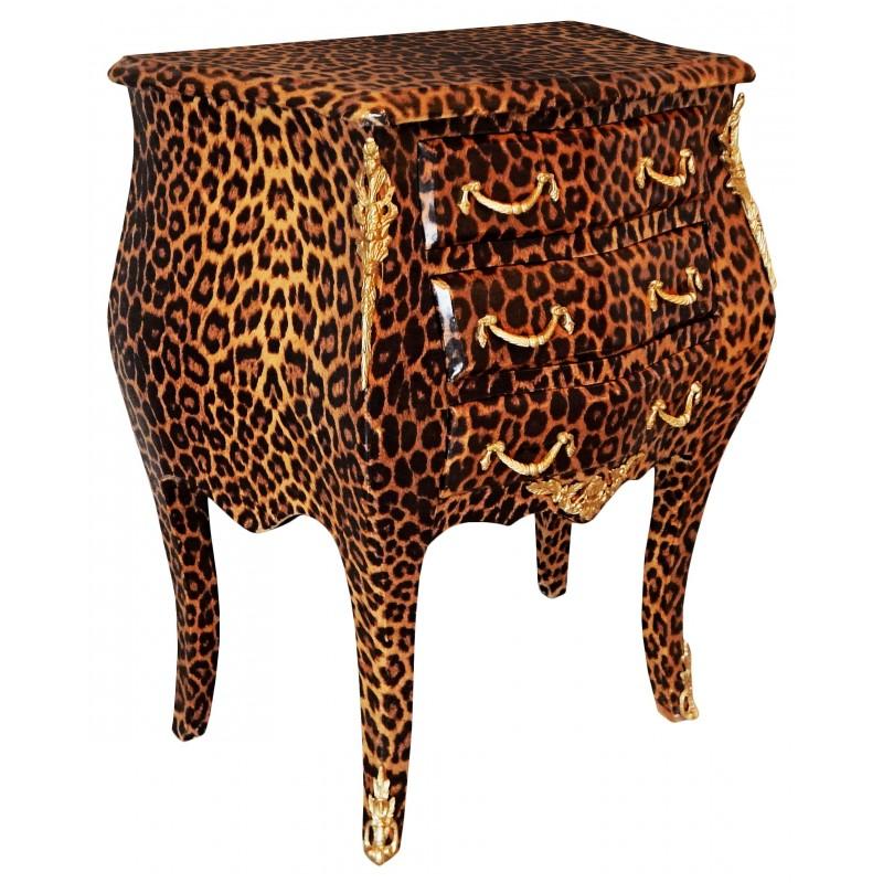Table de nuit chevet commode baroque l opard avec - Table de nuit baroque ...