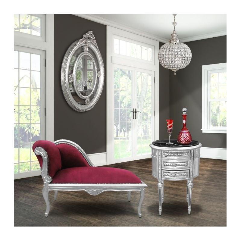 m ridienne de style louis xv tissu en velours rouge. Black Bedroom Furniture Sets. Home Design Ideas