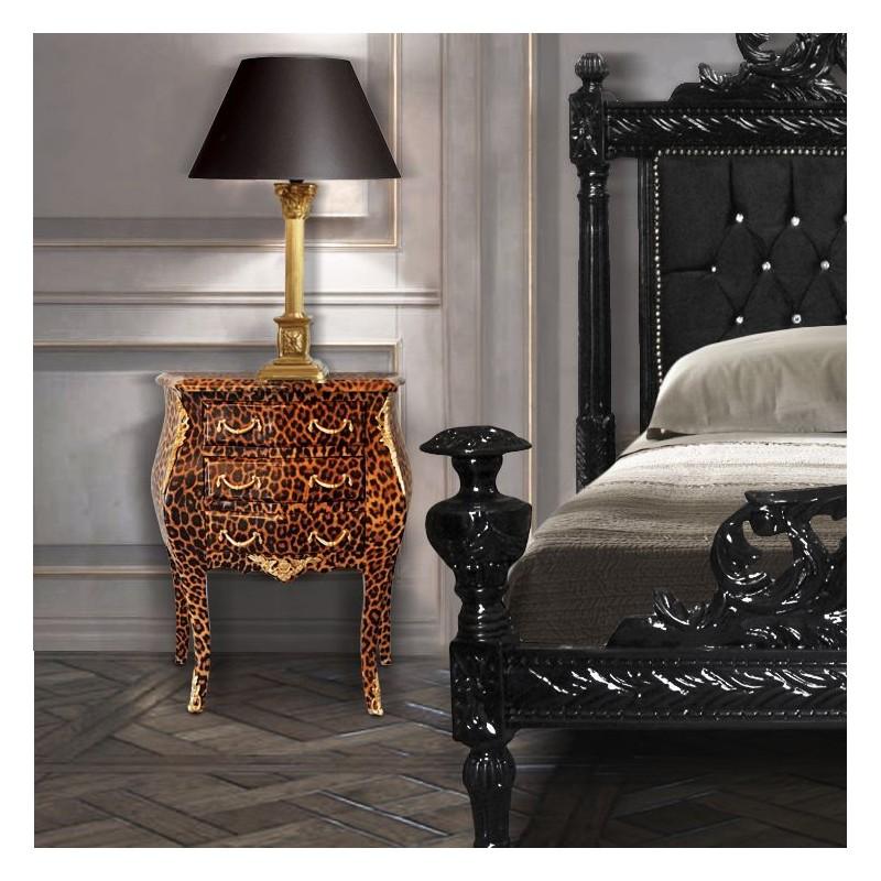 Table de nuit chevet commode baroque l opard avec - Commode et table de chevet ...