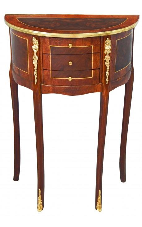 Table De Nuit (chevet) Demi-lune De Style Louis XVI Avec