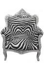 стиль «княжеских» барокко кресло Зебра и деревянные деньги.