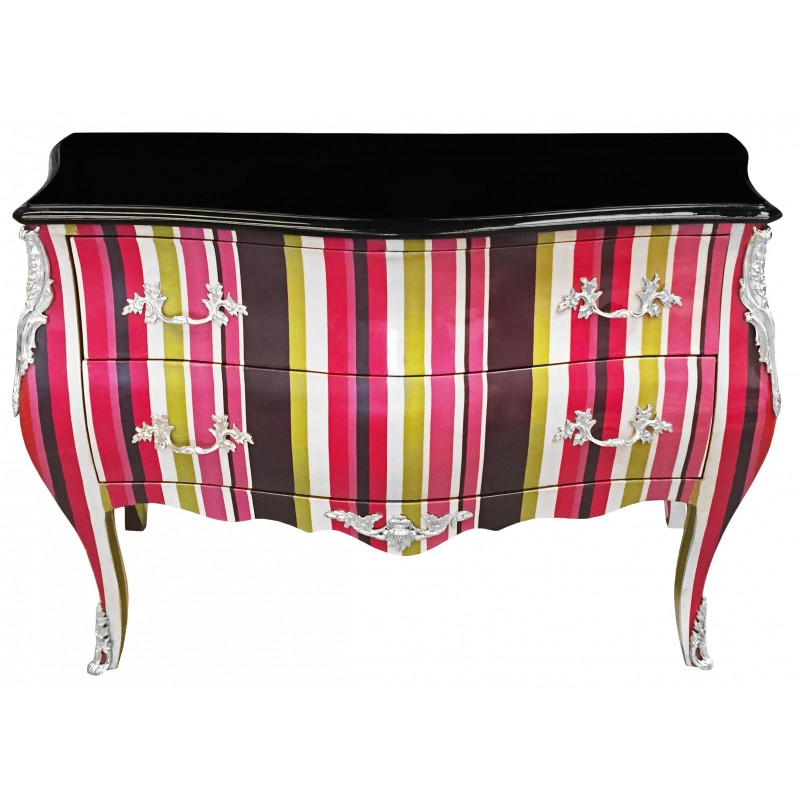 Commode baroque style of louis xv multicolored with 2 - Maison du monde commode baroque ...