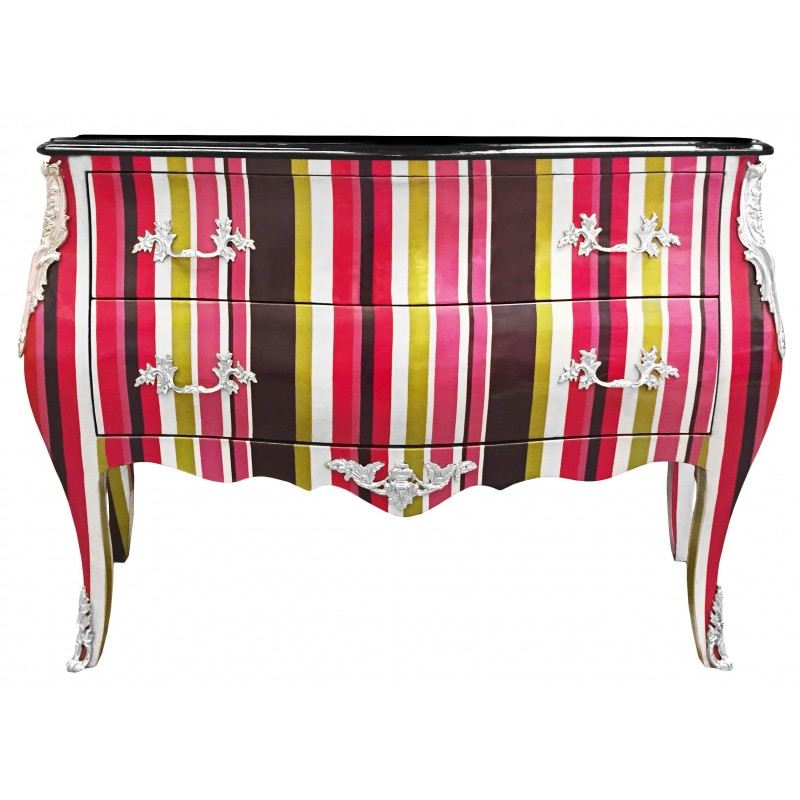Commode baroque de style louis xv multicolore avec 2 - Commode de style baroque ...