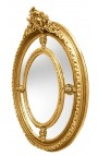 Grand Baroque gilt oval mirror Louis XVI style brothels parks.