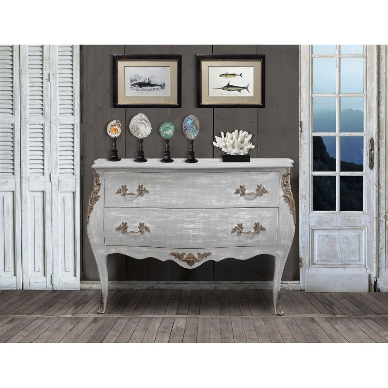 commode de style louis xv bois gris patin. Black Bedroom Furniture Sets. Home Design Ideas