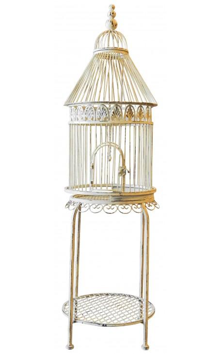 Cylindrical birds cage on foot wrought iron - Cage oiseau maison du monde ...