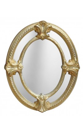 Miroir ovale de style Napoléon III à parts-closes