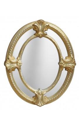 Овальное зеркало Наполеона III в стиле закрытия акций