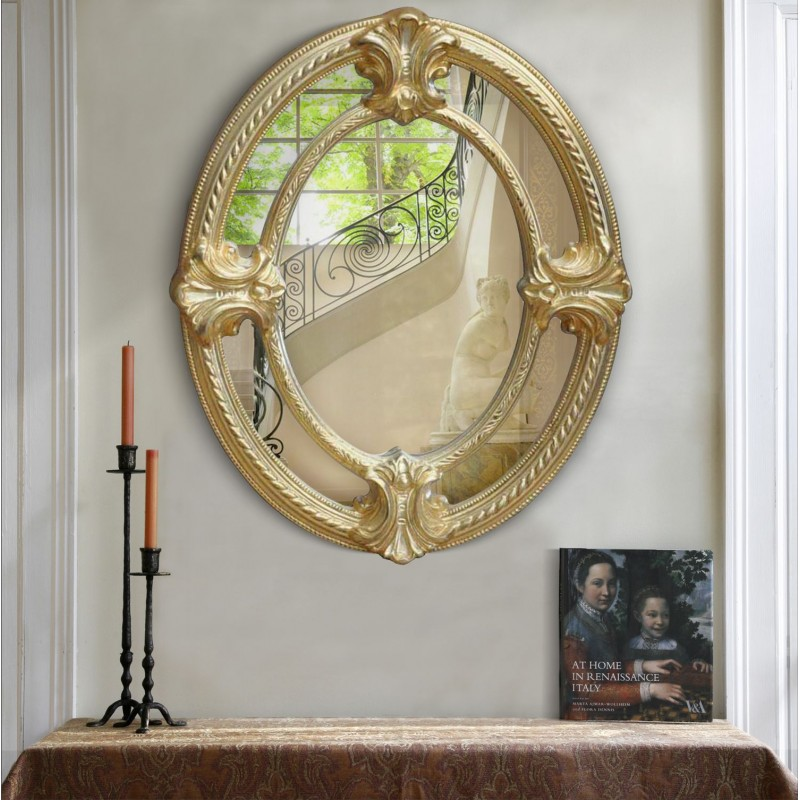 Miroir ovale de style napol on iii parts closes for Miroir napoleon iii
