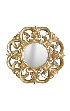 Miroir baroque doré de style Vénitien