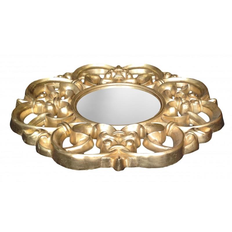 Mirror baroque gilded venetian style for Miroir style baroque
