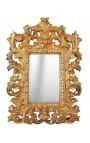 Miroir baroque doré de style Vénitien à poser ou suspendre