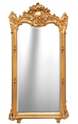 Grand Baroque gilt rectangular mirror
