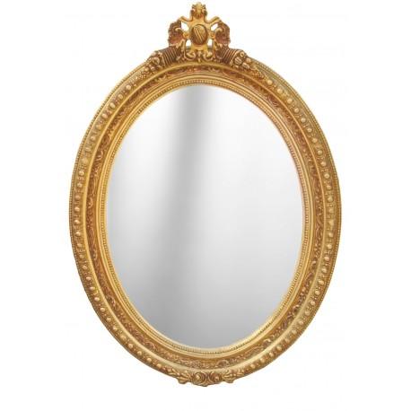 Grand miroir baroque ovale de style louis xvi for Grand miroir large