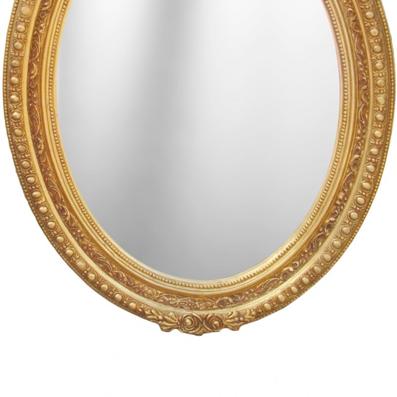 Large baroque mirror oval style of louis xvi for Baroque mirror