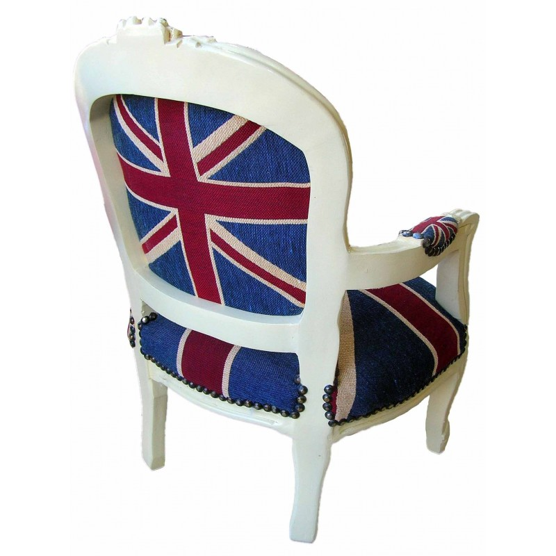 "Baroque armchair for child Louis XV style ""Union Jack"" and ..."