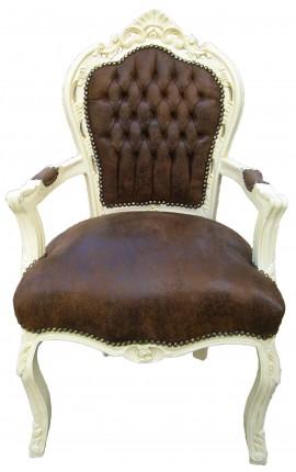 Ткань стиль рококо барокко шоколад инвалидной коляски и бежевый Вуд