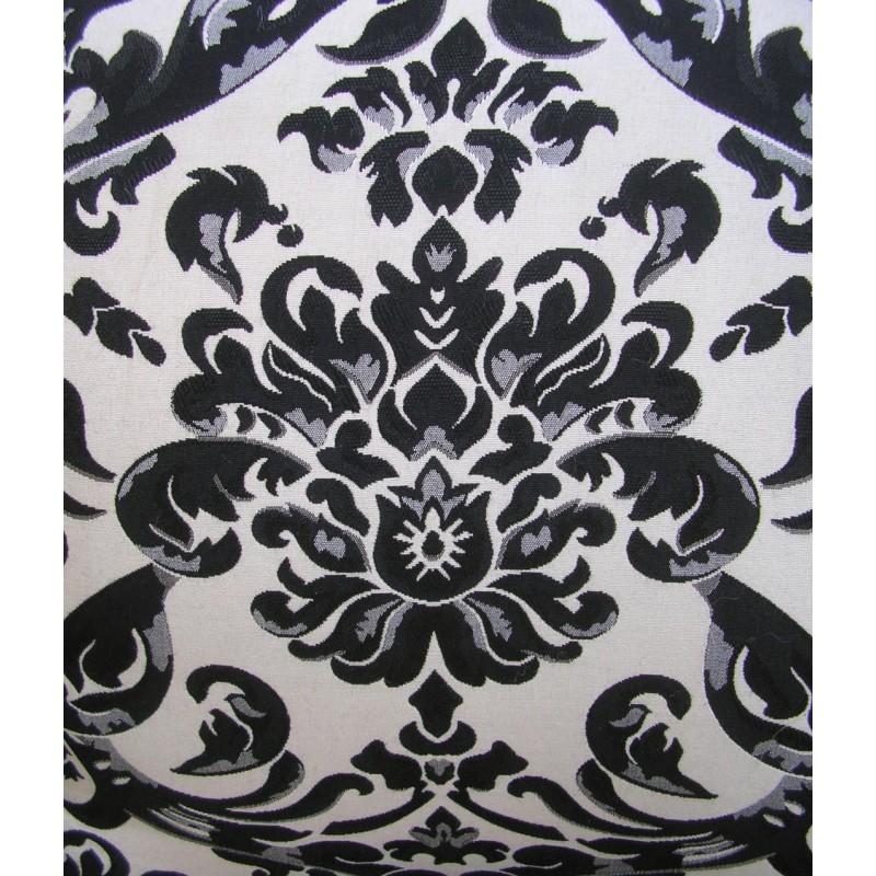 fauteuil baroque de style louis xv motifs floraux noir et bois noir. Black Bedroom Furniture Sets. Home Design Ideas