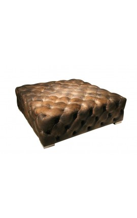 Chesterfield footstool design and stainless steel legs