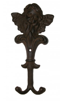 "Coat rack, towel or cloth, ""Angel"" cast iron"