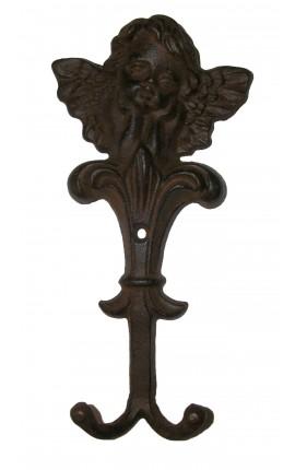 """Porte manteau, serviette ou torchon, """"ange"""" en fonte de fer"""