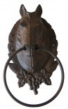 "Gate towel or rag, cast iron ""horse''s head"""