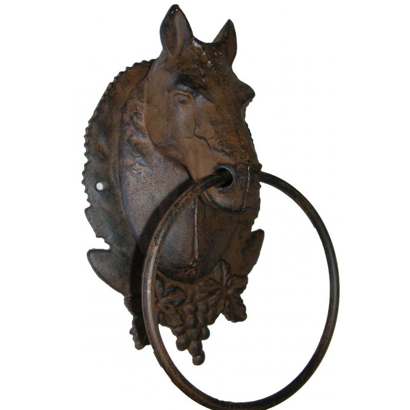 Porte serviette ou torchon t te de cheval en fonte de fer - Image tete de cheval ...